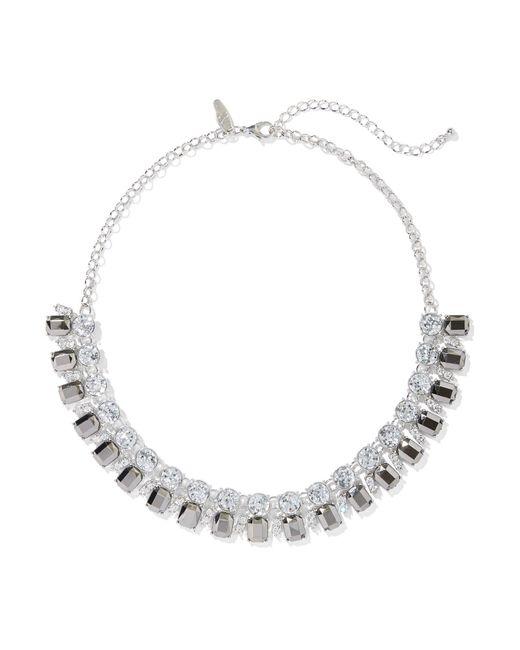 New York & Company - Black Silvertone Faux-stone Statement Necklace - Lyst