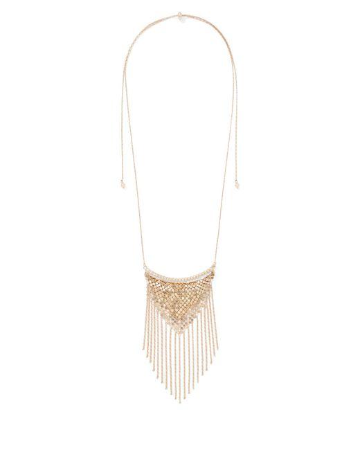 New York & Company - Metallic Goldtone Mesh Chain Link Pendant Necklace - Lyst