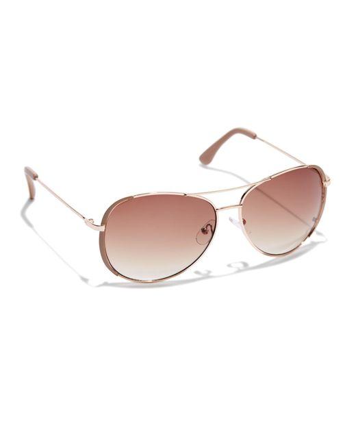c24132354fa New York   Company - Multicolor Colored-rim Aviator Sunglasses - Lyst