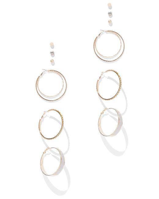 New York & Company - Metallic 6-piece Goldtone Earring Set - Lyst