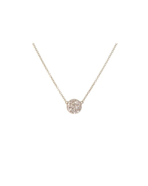 EF Collection | Metallic Diamond Disc Necklace | Lyst
