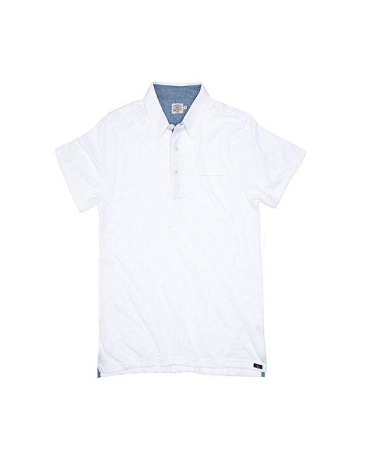 Faherty Brand - White Heather Polo Shirt for Men - Lyst