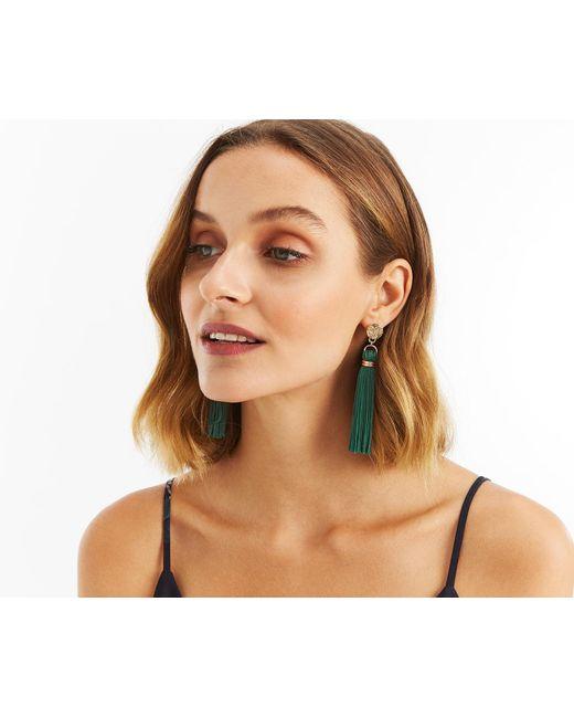 Oasis - Green Tassel Drop Earrings - Lyst