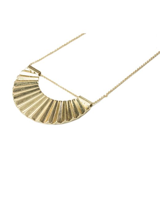 Oasis | Metallic Crescent Disc Necklace | Lyst