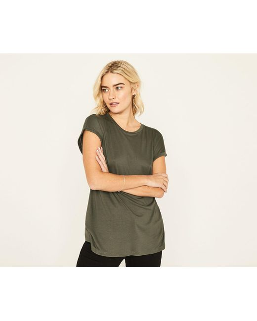 Oasis - Green Relaxed Tee - Lyst