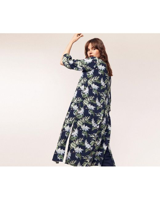 fcfaab0dd58a ... Oasis - Blue Delray Longline Kimono - Lyst