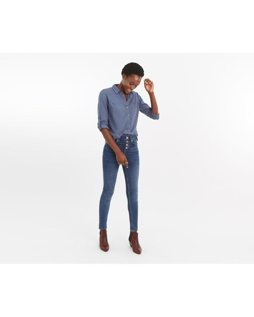 91a59df042de0a Oasis Lily Skinny Jeans in Blue - Save 27% - Lyst