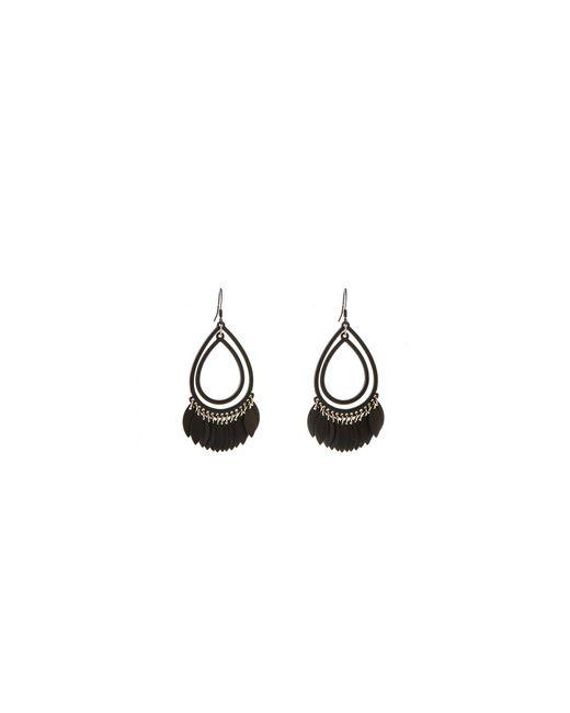 Oasis - Black Teardrop Shard Earrings - Lyst