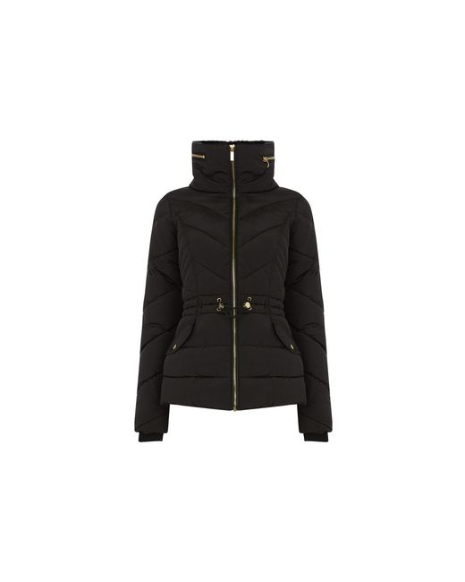 Oasis Black Luxe Short Padded Jacket