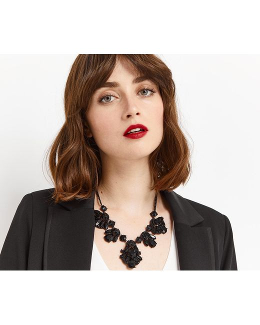 Oasis | Black Jet Statement Collar | Lyst