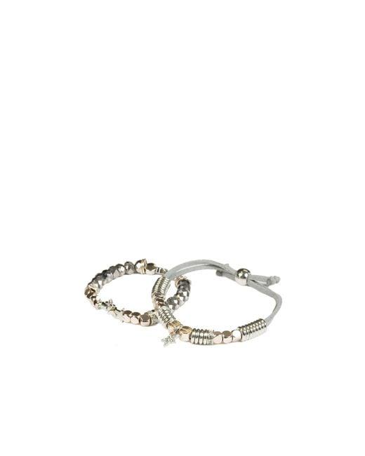 Oasis   Gray Star Bracelet Pack   Lyst