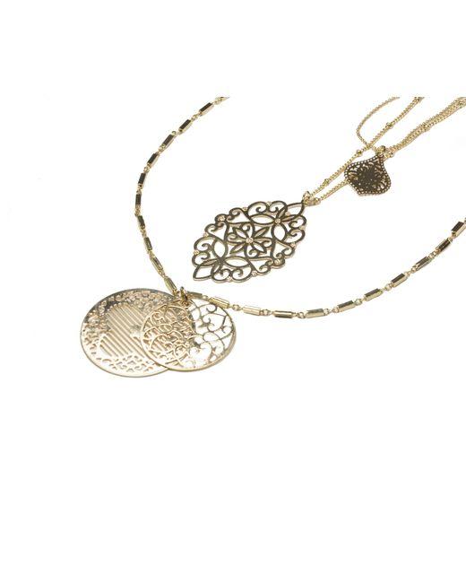 Oasis | Metallic Filigree Layered Necklace | Lyst