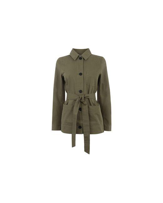 Oasis Green Belted Utility Jacket