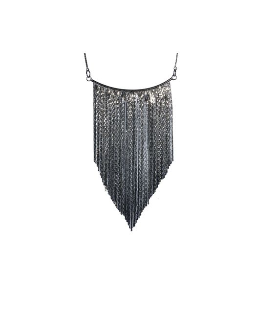 Oasis | Gray Graduated Tassel Necklace | Lyst