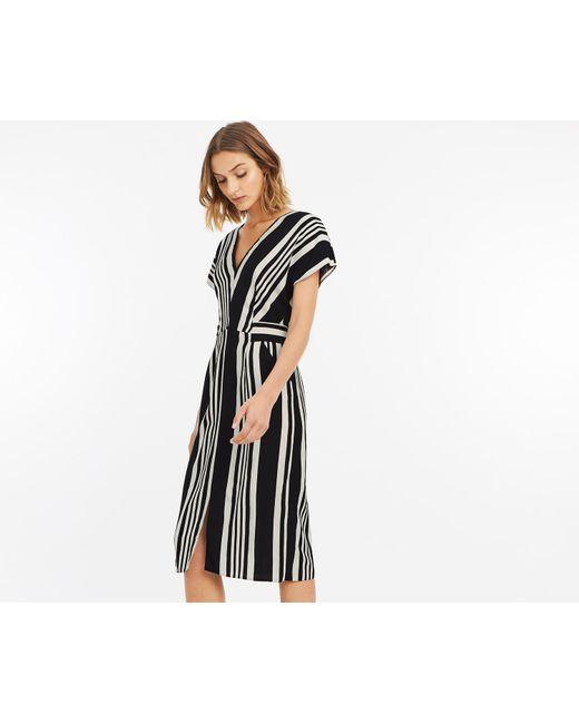 Oasis - Black Stripe Wiggle Dress - Lyst