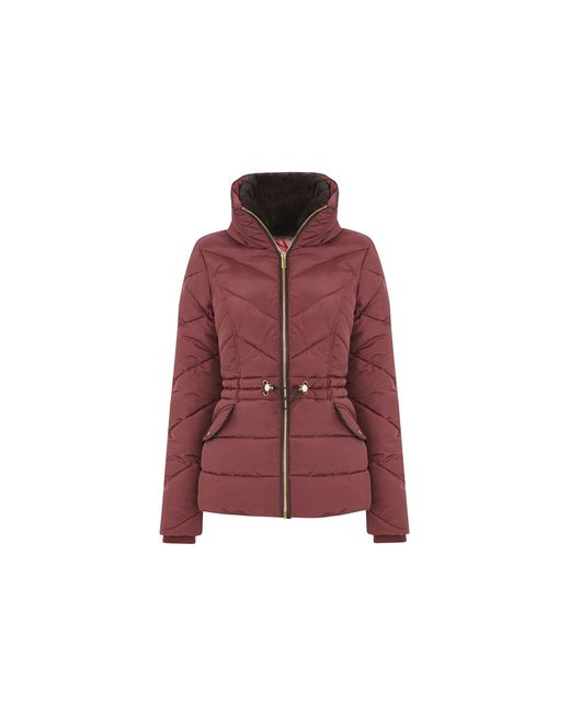 Oasis Red Luxe Short Padded Jacket