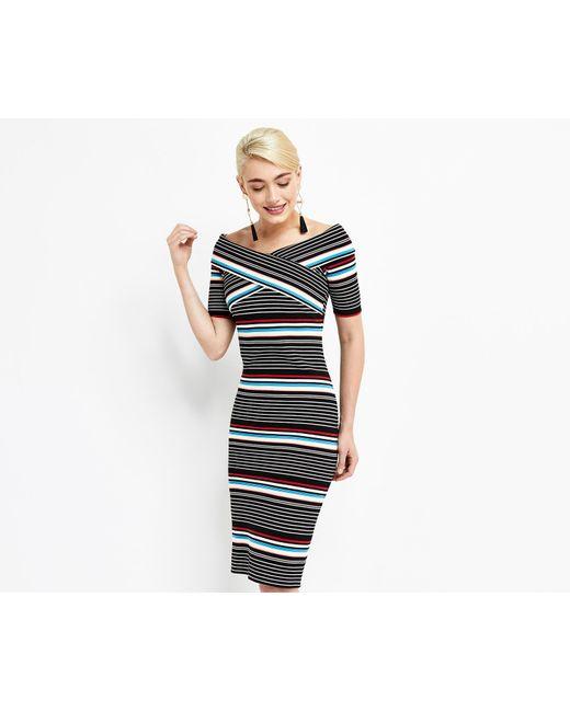 Oasis | Blue Stripe Wrap Dress | Lyst