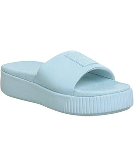 PUMA Platform Slide Wns Beach   Pool Sandal in Blue - Save 63% - Lyst a5d5253b2