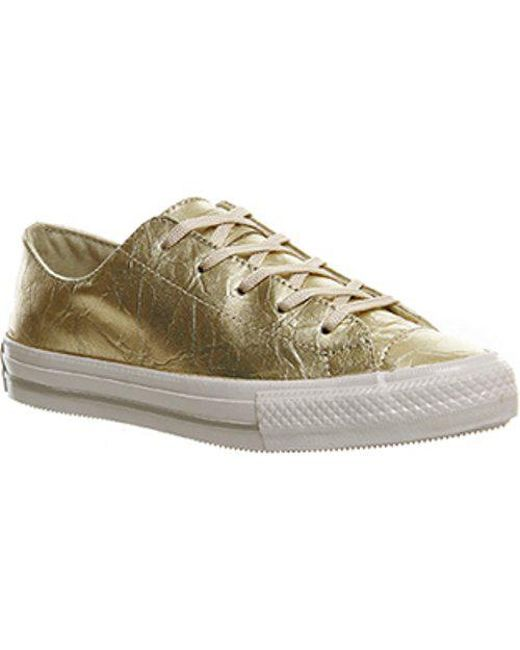 0d20c6609f0e6a Lyst - Converse Ctas Gemma Low Leather in Metallic