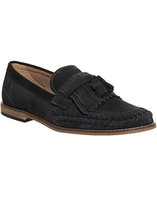H By Hudson Alloa Suede Loafers In Navy - Navy Hudson GuPuQ3