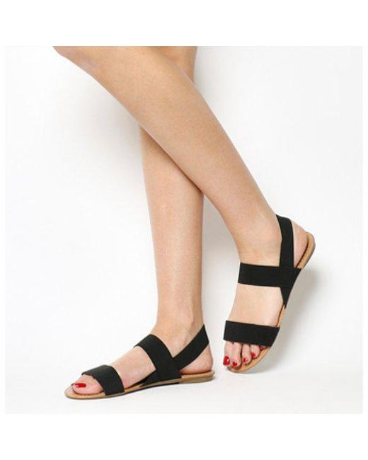 Office - Black Swift Elastic Sandal - Lyst