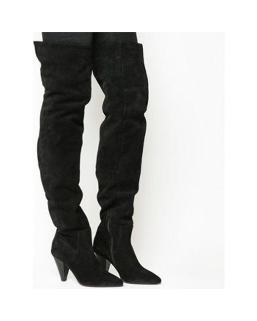 Office - Black Kone- Ultra High Slouch Knee Boot - Lyst