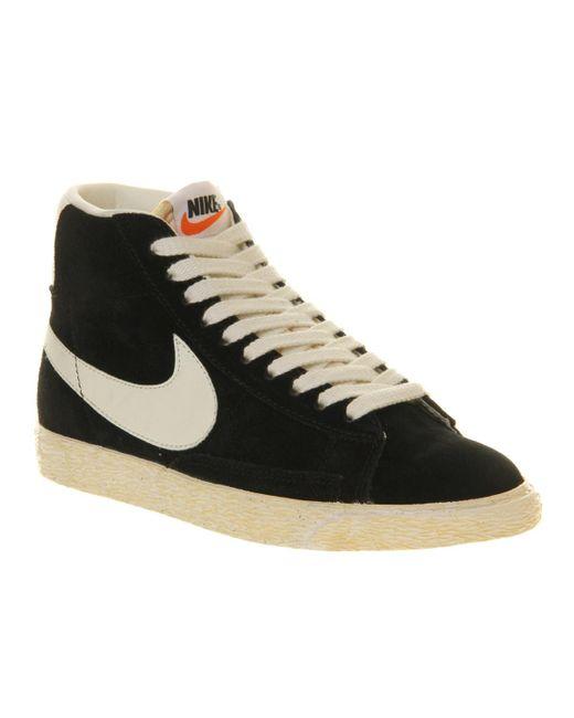 Nike | Black Blazer Hi Suede Vintage for Men | Lyst