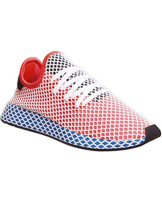 Lyst A Adidas Deerupt In Rosso A Lyst Salvare Il 35% 71874a