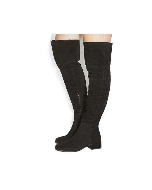 Office   Black Esme Block Heel Over The Knee Boots   Lyst