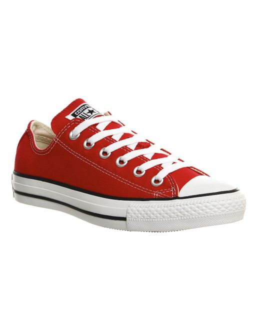 Converse   Red All Star Low for Men   Lyst