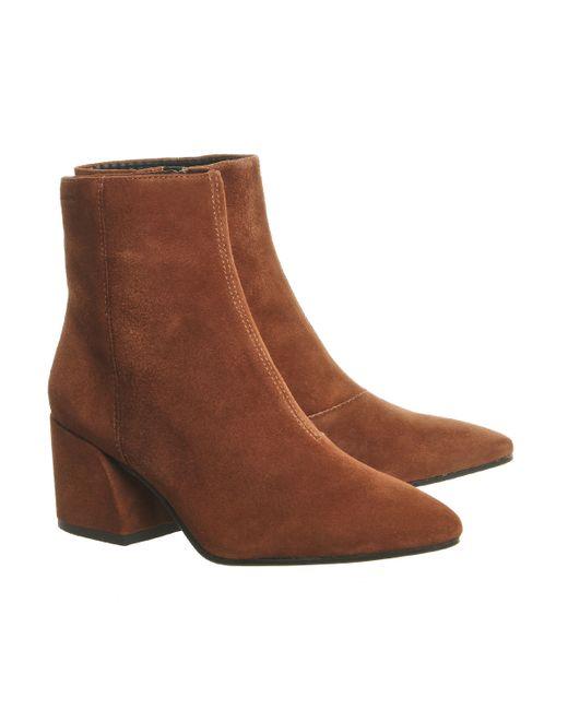 Vagabond Olivia Block Heel Boots In Multicolor (hazel)