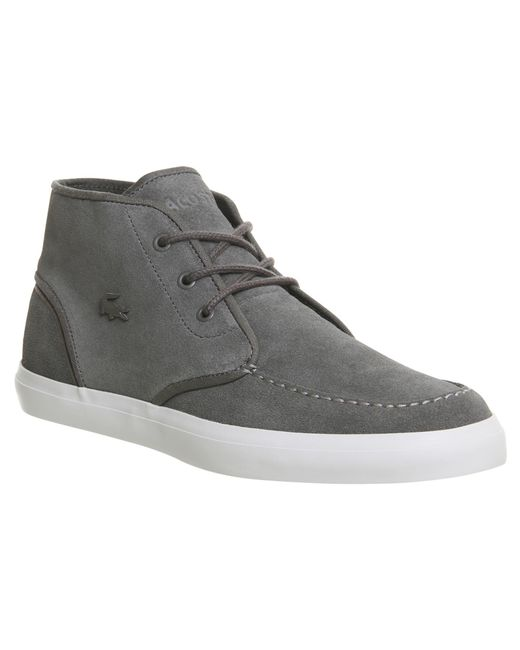Lacoste | Gray Sevrin Mid for Men | Lyst