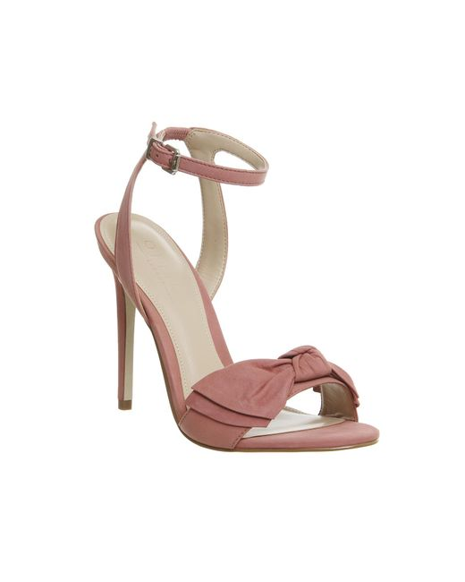 Office   Pink Harmony Bow Trim Sandals   Lyst
