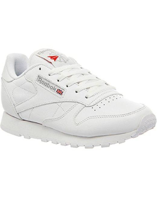 ff4f0dca869 Lyst - Reebok Classic Leather (w) in White