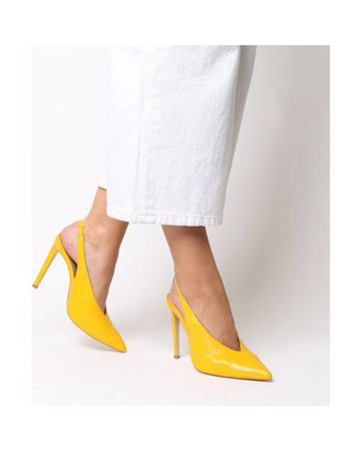 719a4edbd3d Lyst - Office Hix V Cut Slingback Point Court in Yellow