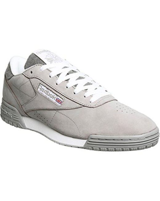 Reebok - Gray Exofit Lo Clean Pt for Men - Lyst