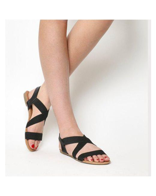c3f98022a3df Office Orbit Elastic Strap Sandals in Black - Save 48% - Lyst