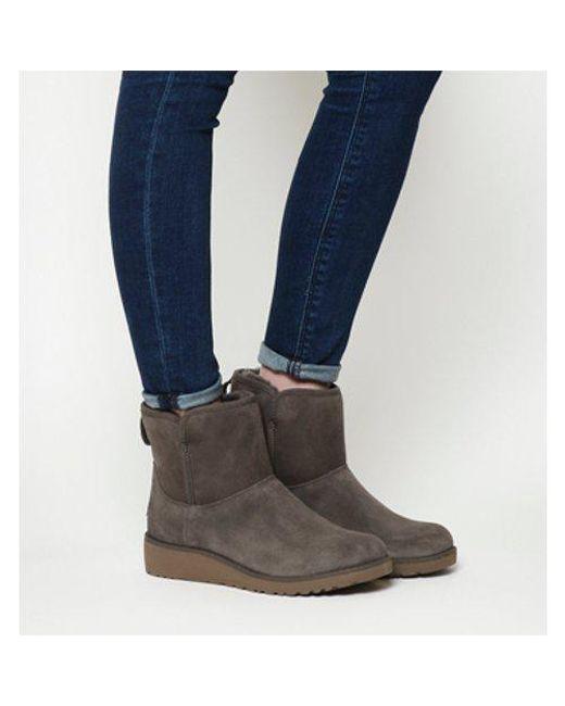 Ugg - Gray Classic Slim Kristin Mini Boots - Lyst