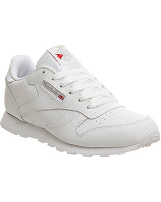 a4c6095e191 Reebok Classic Leather Gs in White - Lyst