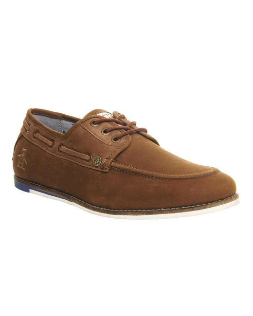 Original Penguin | Brown Fathon Boat Shoe for Men | Lyst