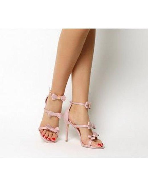 e12a68c2da07 Ted Baker Nuscala Bow Heel in Pink - Lyst