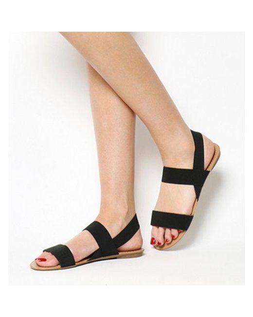 Office - Black Swift Elastic Sandal - Lyst