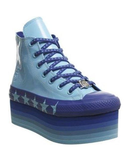 e0ca94fd9633 Lyst - Converse All Star Lift Hi X Mc in Blue - Save 57%