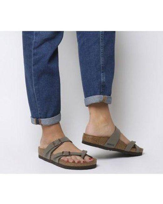 ba58bc6781a Lyst - Birkenstock Mayari Cross Strap Sandal in Gray