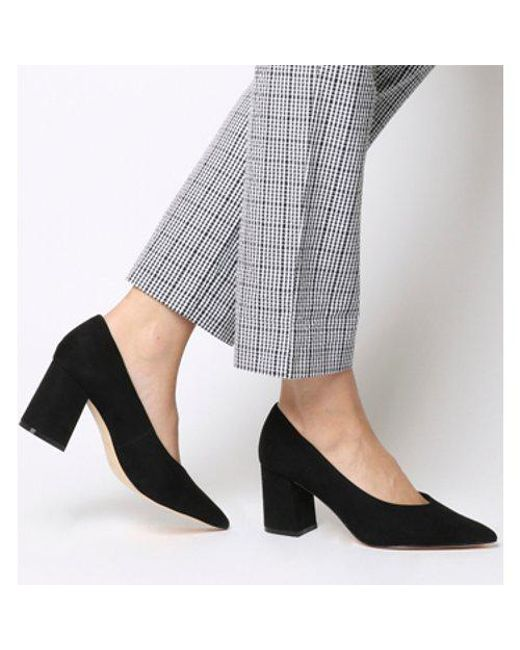 aa8e98c7891 Office Mama Point Court With Chunky Heel in Black - Lyst