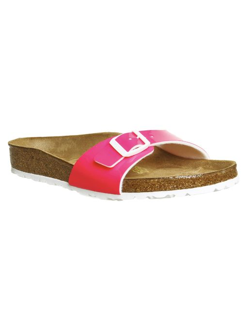 Birkenstock   Pink Madrid 1 Bar Patent Sandals   Lyst