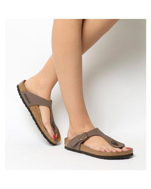 Birkenstock - Brown Toe Thong Footbed - Lyst