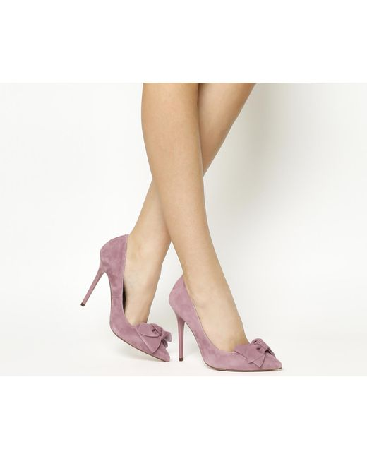 Office | Pink Hey Girl Bow Point Courts | Lyst