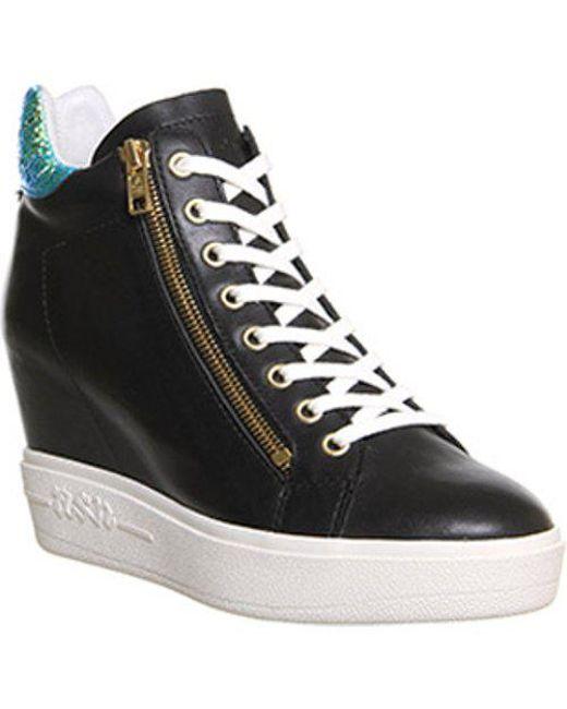 d354b25b0752 Lyst - Ash Atomic Wedge Sneaker in Black