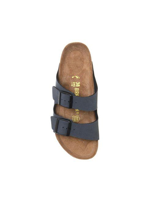 f0a0ad590 ... Birkenstock - Unisex: Arizona Soft Footbed Black Suede Sandal - Lyst ...